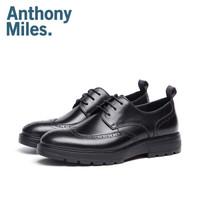 英国设计师品牌安东尼Anthonymiles真皮布洛克雕花商务正装鞋男 黑色花纹1(AE19J001A) 44