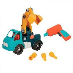 北美BATTAT玩具车男女儿童DIY玩具仿真车模大尺寸配件环保材质可反复拆卸组合模型  建造自己的起重机+凑单品