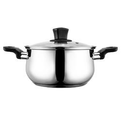 美的汤锅304不锈钢不粘家用加厚小电磁炉通用燃气专用蒸煮泡面锅