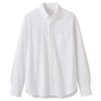 MUJI 无印良品 18AC741 男士 牛津纽扣领衬衫 白色 L