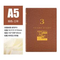 PAIBANG 派榜 创意5年3年日记本人生规划记事日程计划本笔记本 三年-棕色