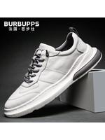Burbupps/法国芭步仕新款中帮加棉男鞋韩版潮流百搭板鞋男士运动休闲鞋小白鞋潮鞋