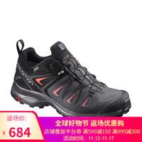 萨洛蒙(Salomon) 女款户外防水透气徒步鞋 X ULTRA 3 GTX W 磁铁灰398685 UK4.5(37 1/3)