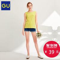 GU 极优 316752 女装后背蝴蝶结T恤