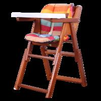 儿童实木折叠餐椅