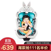 感恩 ganen 汽车儿童安全座椅LooneyTunes系列 适合0-12岁 兔八哥+isofix硬接口