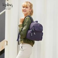 Kipling秋冬新款潮包包女时尚轻便百搭双肩背包布包|MATTA 蓝紫色C *2件