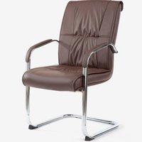 博泰(BJTJ)电脑椅 家用弓架椅 会议椅办公椅子培训室皮椅BT-5107棕色
