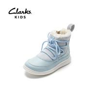 Clarks 其乐 女童英伦冰雪奇缘联名短靴 蓝色 28.5