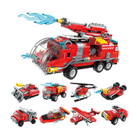 ENLIGHTEN 启蒙 积木玩具 拼装喷射消防车(八合一)