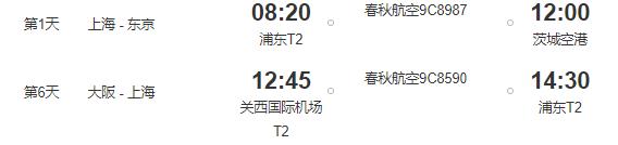 红叶季!上海直飞茨城进,大阪出往返含税机票