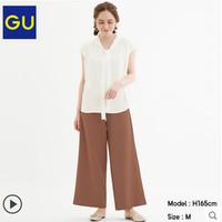 GU 极优 318950 女士抽绳阔腿裤休闲裤