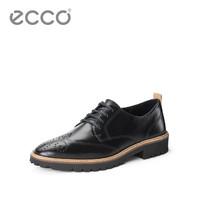ECCO 爱步 女士 休闲小皮鞋女英伦 英姿265833 黑色