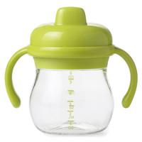 OXO 奥秀 宝宝婴幼儿练习水杯 61100600 带手柄硬头鸭嘴吸允学饮杯 PP 柠檬绿 180ML