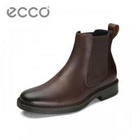 ECCO爱步 男靴高帮切尔西靴 纽卡斯610314 棕色 41