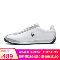 乐卡克法国公鸡皮革运动休闲鞋复古运动鞋男女QL1NGC12BG 白色/藏青 39