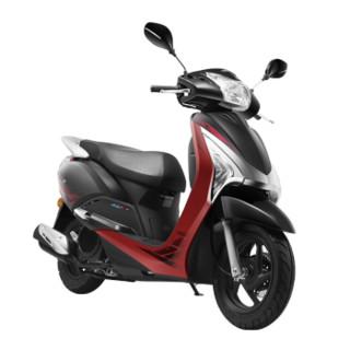 WUYANG-HONDA 五羊-本田 110水冷电喷踏板车摩托车 金刚黑/珊瑚红