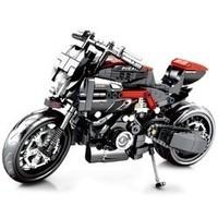 森宝积木 摩托车组装积木模型 杜卡迪摩托车 702颗粒