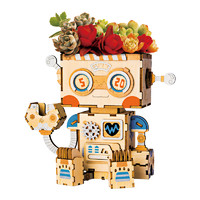 Robotime 若态 木质立体拼图花盆 FT761艾小波