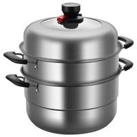 华帝 30cm 加厚三层复底不锈钢蒸锅