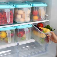 HAIXIN 带把手冰箱微波保鲜盒套装 厨房塑料食品收纳整理箱 天蓝色 2个4.5L+1个9L *3件