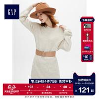 Gap女装圆领套头长袖连衣裙2019新款流行女士羊毛针织裙子473965