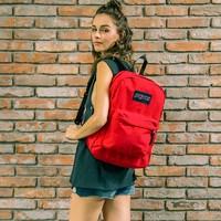 JanSport 杰斯伯 T501叛逆系列男女双肩包书包休闲包 时尚红色热卖