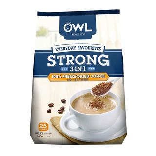 猫头鹰三合一特浓冷凝速溶咖啡500g 马来西亚进口 进口咖啡 速溶咖啡 冲调饮品