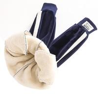 眼镜狗 男女童冬季羊羔绒加厚保暖裤