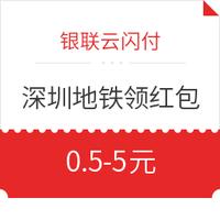 银联云闪付 X 深圳地铁 乘地铁领红包