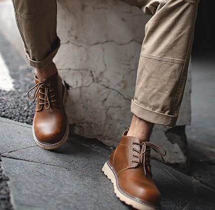 MADEN 马登 MD1667136 男士中帮马丁靴