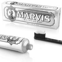 MARVIS玛尔斯 意大利进口 去渍美白 持久亮白 美白薄荷牙膏 牙膏中的爱马仕 银色 85ml