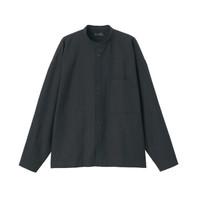无印良品 MUJI Labo 男女通用 牛津棉 立领衬衫 黑色 XXS-XS