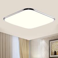HD LED吸顶灯 卧室客厅灯具灯饰现代简约 方形银系列24W 中性光