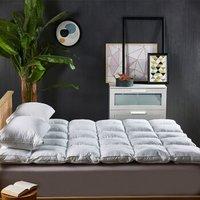 京东PLUS会员 : 斯诺曼(snowman)床垫家纺 5%鹅绒床垫羽绒鹅毛  填充量4.8kg 适用1.5m床
