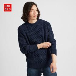 18日0点:UNIQLO 优衣库 419203 男士圆领针织衫
