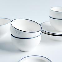 新居意 釉下彩陶瓷碗 4.5英寸*4个