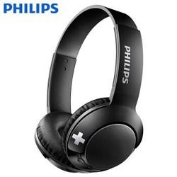 飞利浦(PHILIPS) 蓝牙耳机头戴式 无线运动时尚潮流耳机 重低音音乐游戏耳机 SHB3075 黑色