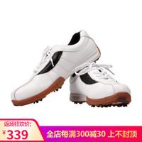 登路普DUNLOP高尔夫球鞋男款真皮运动鞋 男士活动钉 白色44码