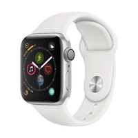 Apple Watch Series 4智能手表(GPS款 40毫米银色铝金属表壳 白色运动型表带 )