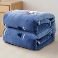 九洲鹿毛毯 法兰绒毯子 办公室小盖毯午睡毯100*140cm云貂绒毛巾被