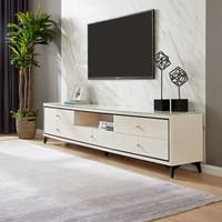 全友家居 北欧电视柜组合套装钢化玻璃电视机柜客厅柜子120758 电视柜