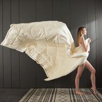 J.H.Longess 蓬松保暖大豆纤维羽丝绒被 150*200cm 4斤