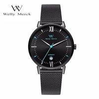 威利默克(welly merck)WM手表 Conqueror系列瑞士机械表 商务时尚轻奢男表WM011M.3