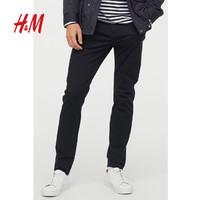 H&M HM0744306 2019新款修身弹力棉质休闲裤