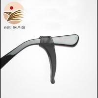 BAILINGGUIZU/白领贵族  软硅胶黑色大号镜脚贴合防滑耳勾