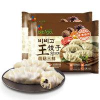 必品阁(bibigo)菌菇三鲜王饺子 350g*2 水饺 蒸饺 煎饺 锅贴 早餐食材 *10件