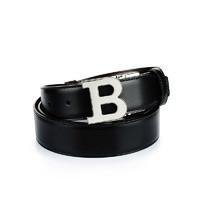 BALLY 巴利 9000001519 黑色牛皮扣腰带