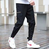 BENCORLAI 男士新款舒适束脚工装裤 青年韩版纯棉潮牌休闲裤