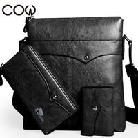 法国COW单肩包三件组(单肩包+钱包+卡包)